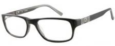 Guess GU 1710 Eyeglasses Eyeglasses - BLK: Black / Grey Horn
