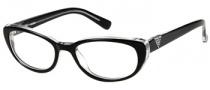Guess GU 2296 Eyeglasses Eyeglasses - BLK: Black Crystal