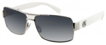 Guess GU 6671 Sunglasses Sunglasses - WHT-3: Shiny Silver