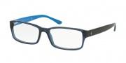 Polo PH2065 Eyeglasses Eyeglasses - 5563 Shiny Transparent Blue