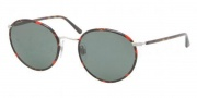 Polo PH3057MJ Sunglasses Sunglasses - 908871 Sanded Silver / Green