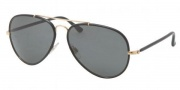 Polo PH3058JM Sunglasses Sunglasses - 900487 Shiny Gold / Gray