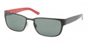 Polo PH3065 Sunglasses Sunglasses - 903871 Matte Black / Green