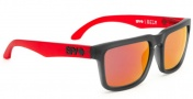 Spy Optic Helm Sunglasses Sunglasses - Cherry Red / Grey with Red Spectra