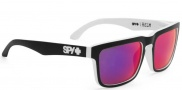 Spy Optic Helm Sunglasses Sunglasses - Matte Black / White / Grey with Blue Mirror