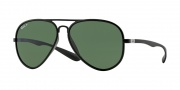 Ray-Ban RB4180 Sunglasses Sunglasses - 601S9A Matte Black / Polarized Green