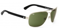 Spy Optic Showtime Sunglasses Sunglasses - Silver With Black / Grey Green