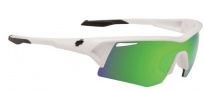 Spy Optic Screw Sunglasses Sunglasses - White / Bronze with Green Spectra