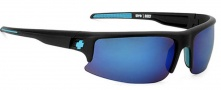 Spy Optic Rivet Sunglasses Sunglasses - Matte Black / Bronze W/ Light Blue Spectra