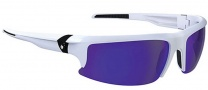 Spy Optic Rivet Sunglasses Sunglasses - Matte White / Bronze W/ Blue Spectra