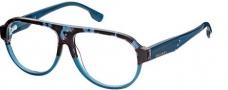 Diesel DL5003 Eyeglasses Eyeglasses - 050 Shiny Transparent Blue / Grey Havana