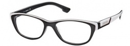Diesel DL5012 Eyeglasses Eyeglasses - 005 Black White / Pearl / Grey