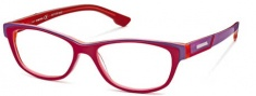 Diesel DL5012 Eyeglasses Eyeglasses - 068 Red Blue / flourescent Rose