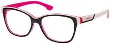 Diesel DL5013 Eyeglasses Eyeglasses - 05A Black / White / Flourescent Rose