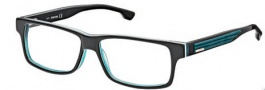 Diesel DL5015 Eyeglasses Eyeglasses - 005 Black / Trans Dark Green Blue / White