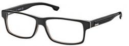 Diesel DL5015 Eyeglasses Eyeglasses - 05A Black / Trans Dark Yellow / White / Grey