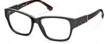 Diesel DL5036 Eyeglasses Eyeglasses - 001 Shiny Black / Dark Havana