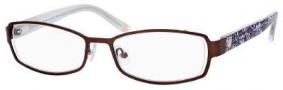 Liz Claiborne 378 Eyeglasses Eyeglasses - 0DE2 Dark Chocolate Floral