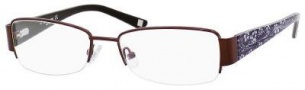 Liz Claiborne 387 Eyeglasses Eyeglasses - 0DE2 Chocolate Floral