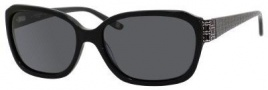 Liz Claiborne 548/S Sunglasses Sunglasses - 807P Black (RA Gray Polarized Lens)
