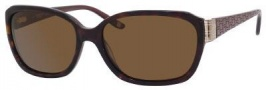 Liz Claiborne 548/S Sunglasses Sunglasses - 086P Dark Havana (VW Brown Polarized Lens)