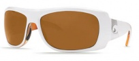 Costa Del Mar Bonita Sunglasses White Tortoise Frame Sunglasses - Dark Amber / 580P