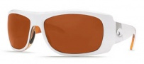 Costa Del Mar Bonita Sunglasses White Tortoise Frame Sunglasses - Copper / 580P