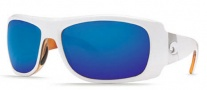 Costa Del Mar Bonita Sunglasses White Tortoise Frame Sunglasses - Blue Mirror / 400G