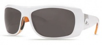 Costa Del Mar Bonita Sunglasses White Tortoise Frame Sunglasses - Dark Gray / 400G