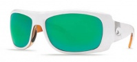 Costa Del Mar Bonita Sunglasses White Tortoise Frame Sunglasses - Green Mirror / 400G