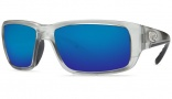 Costa Del Mar Fantail Sunglasses Silver Frame Sunglasses - Blue Mirror / 400G