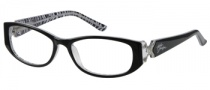 Harley Davidson HD 343 Eyeglasses Eyeglasses - BLK: Black On Zebra