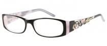 Harley Davidson HD 387 Eyeglasses Eyeglasses - BLK: Black / Grey Bone