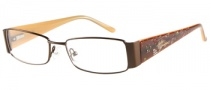 Harley Davidson HD 393 Eyeglasses Eyeglasses - BRN: Shiiny Brown
