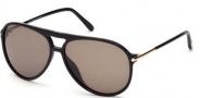 Tom Ford FT0254 Matteo Sunglasses Sunglasses - 01M Shiny Black