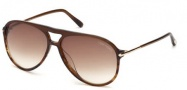Tom Ford FT0254 Matteo Sunglasses Sunglasses - 50F Transparent Brown