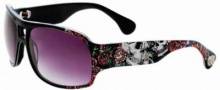 Ed Hardy Brie Sunglasses Sunglasses - Black / Gray Gradient