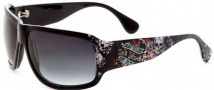 Ed Hardy Rock Sunglasses Sunglasses - Black / Grey Gradient