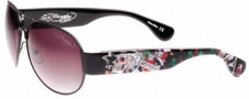 Ed Hardy Zeke Sunglasses Sunglasses - Black / Grey Gradient