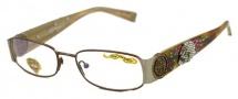 Ed Hardy EHO 711 Eyeglasses Eyeglasses - Brown Pewter