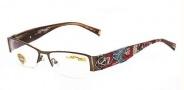 Ed Hardy EHO 716 Eyeglasses Eyeglasses - Brown
