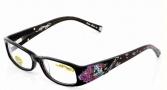 Ed Hardy EHO 717 Eyeglasses Eyeglasses - Black Grey