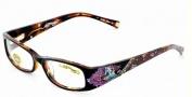 Ed Hardy EHO 717 Eyeglasses Eyeglasses - Brown Tortoise