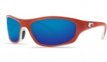 Costa Del Mar Maya Sunglasses Salmon White Frame Sunglasses - Blue Mirror / 580G