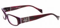 Ed Hardy EHO 728B Eyeglasses Eyeglasses - Plum