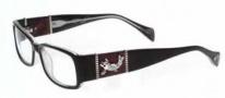 Ed Hardy EHO 729 Eyeglasses Eyeglasses - Black