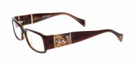 Ed Hardy EHO 729 Eyeglasses Eyeglasses - Brown