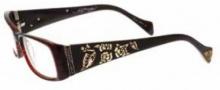 Ed Hardy EHO 731 Eyeglasses Eyeglasses - Shiny Gold