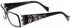 Ed Hardy EHO 731 Eyeglasses Eyeglasses - Shiny Silver