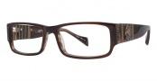 Ed Hardy EHO 732 Eyeglasses Eyeglasses - Brown Horn